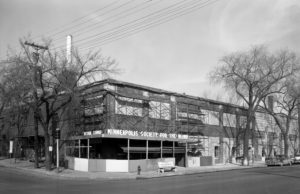 Minneapolis office on corner of Lyndale and Franklin, 1957