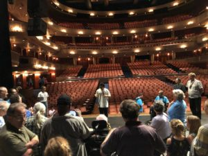 group of clients on tour of Ordway theater